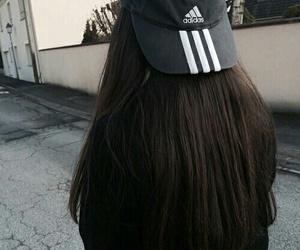 adidas, black, and hair image