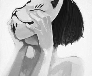 anime, mask, and manga image