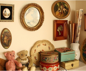 teddy bear, apartment, and vintage image