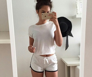 girl, outfit, and white image