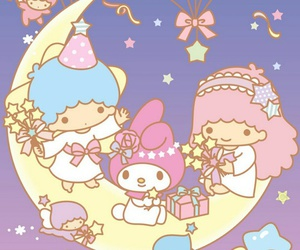 sanrio, wallpaper, and little twin stars image