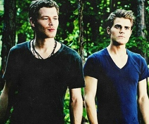 tvd, klaus, and paul wesley image