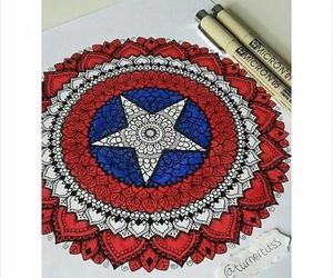 captain america, zentangle art, and team cap image