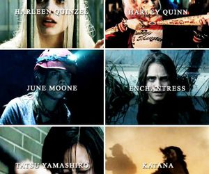 harley quinn, suicide squad, and katana image