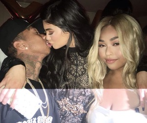 kylie jenner, tyga, and jordyn woods image