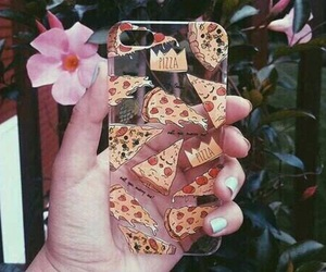 colorful, iphone, and pizza image