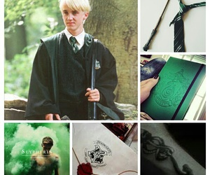 draco malfoy, green, and harry potter image