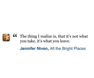book, jennifer niven, and quote image