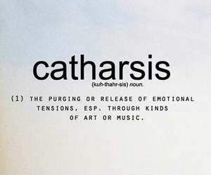 words, catharsis, and art image
