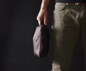 bag, leather, and men image