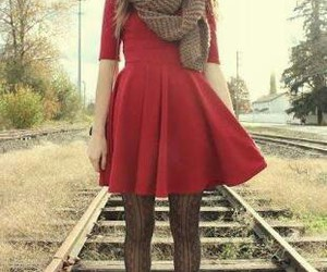 dress, cute, and fall image
