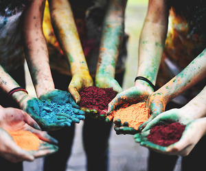 colors, hands, and vintage image