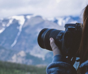 adventure, camera, and mountain image