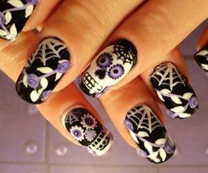 nails and sugar skull image