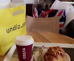 bags, coffee, and costa image