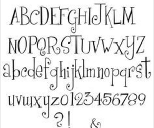 alphabet, fonts, and hand lettering image