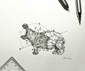 art and hippo image
