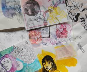 art, illustration, and painting image