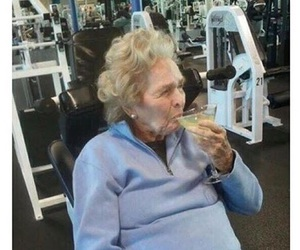 gym, funny, and alcohol image