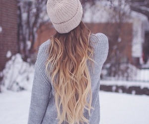 beanie, fashion, and hair image