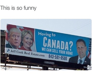 canada, funny, and Hillary Clinton image