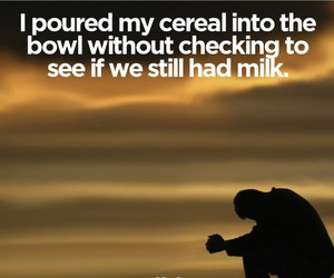 funny, cereal, and milk image