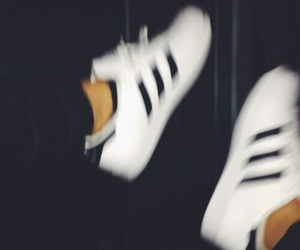 adidas, baby adidas, and black and white image