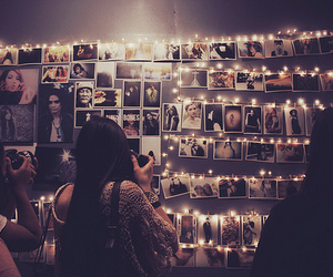 boho, lights, and room image
