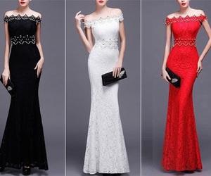 beautiful, black, and dress image