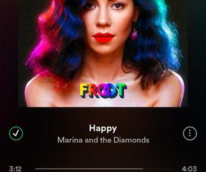 happy, marina and the diamonds, and music image