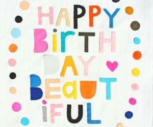 beautiful, birthday, and card image