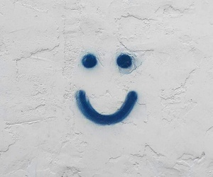 blue and happy face image