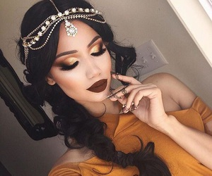 beautiful, ❤, and brown image
