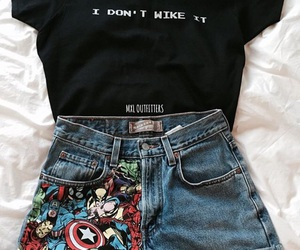 fashion, outfit, and Marvel image