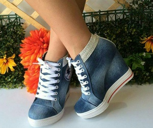 fashion, wedge, and shoes image