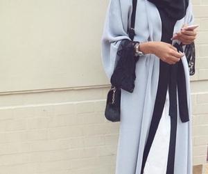 blue, hijab, and abaya image