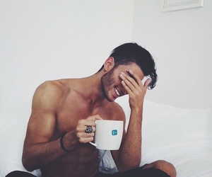 body, boy, and coffee image