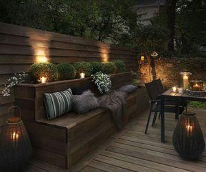 backyard, comfy, and decoration image