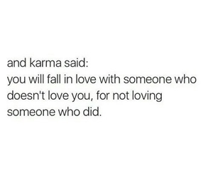 fall in love, karma, and someone image