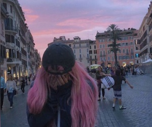 pink, style, and sunset image