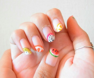 kiwi, nail art, and nail polish image