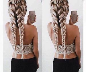hair, braid, and goals image