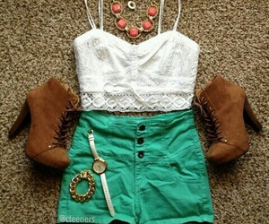 outfit, style, and shorts image