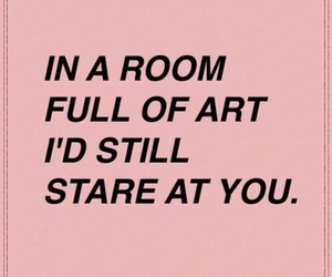 art, stare, and quote image
