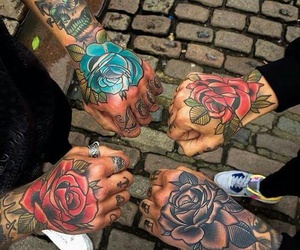 tattoo, rose, and friends image