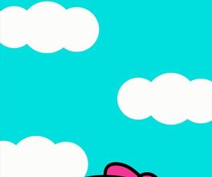 clouds, hello kitty, and kawaii image