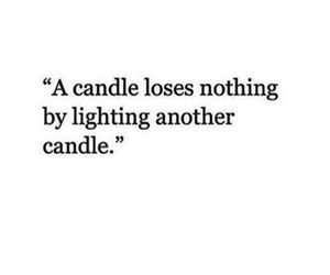 candle and quote image