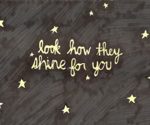 stars, coldplay, and quotes image