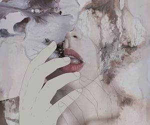 art, lips, and grunge image