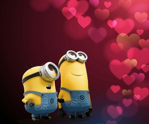 minions, wallpaper, and love image